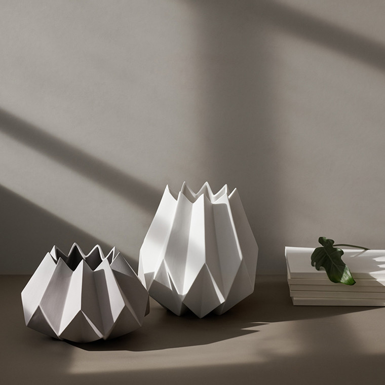 Menu Folded Vase Tall White