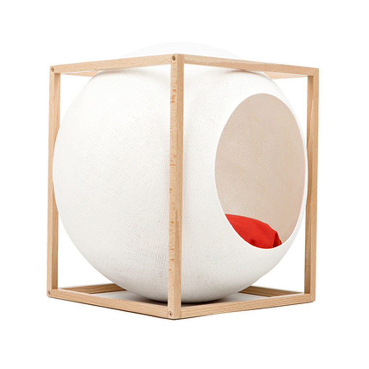 Meyou Paris The Cube Ivory Wood Edition Kattekurv