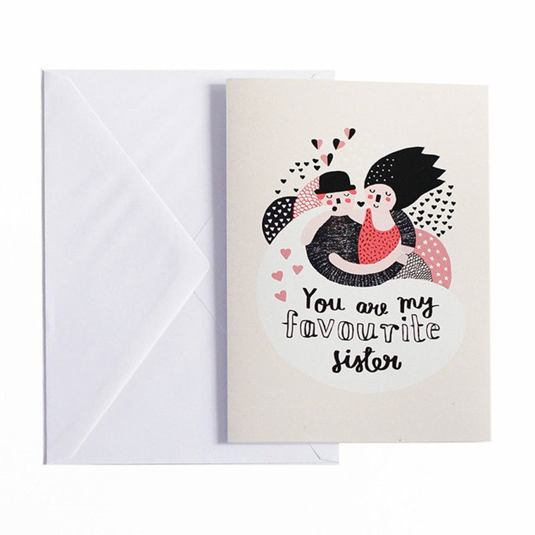 Michelle Carlslund Favourite Sister Postkort