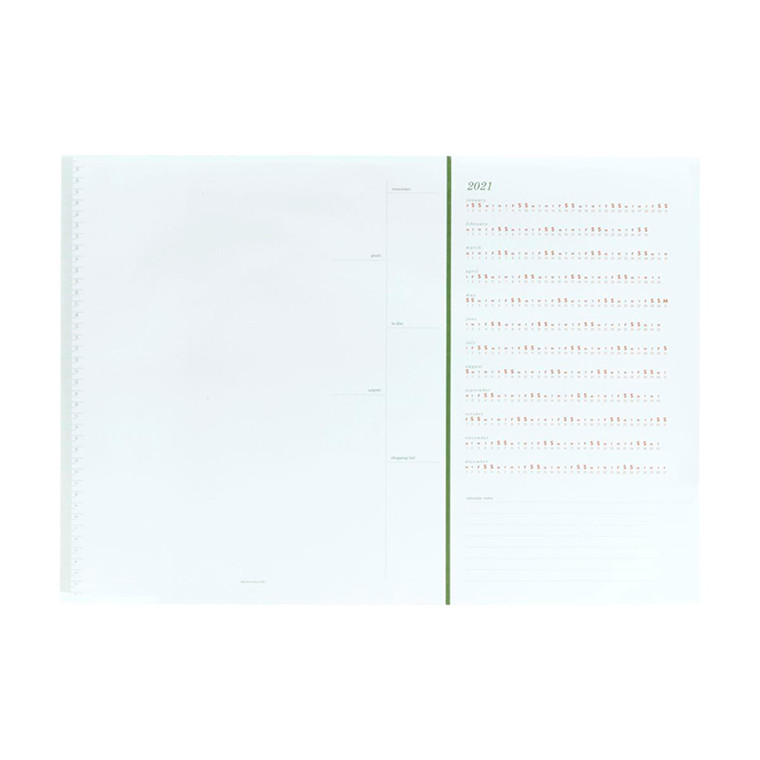 Monograph Calendar White