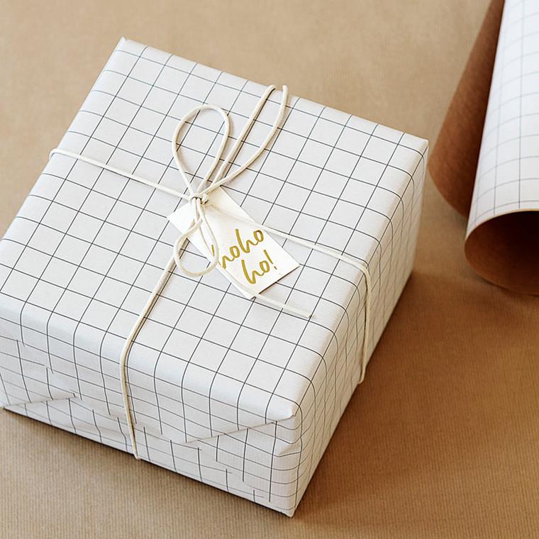 Monograph Squared Gift Tags 50 pcs