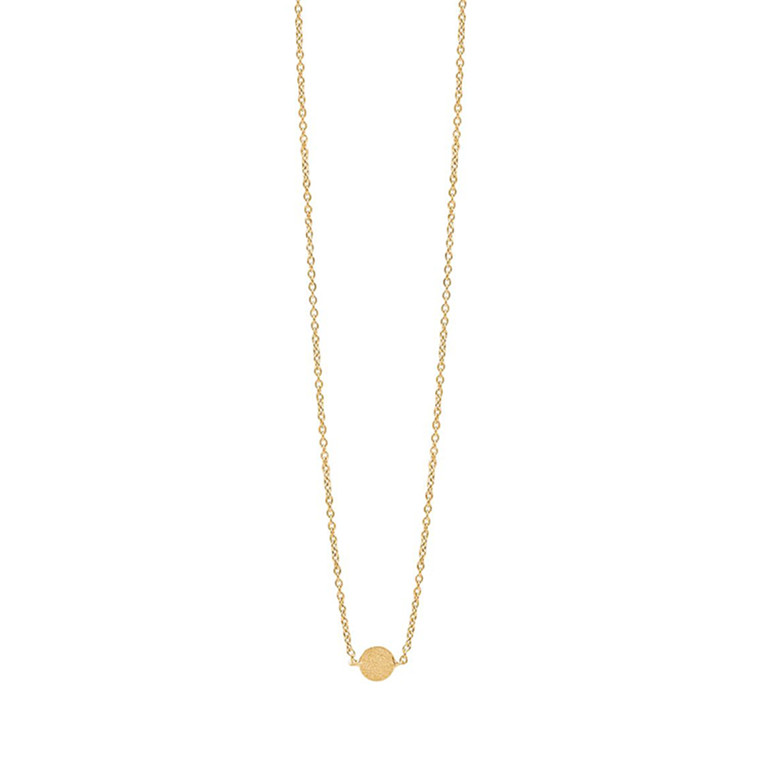 Enamel Copenhagen Coin Necklace Gold-Plated