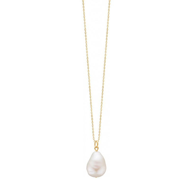Enamel Copenhagen Baroque Pearl Necklace Gold-Plated