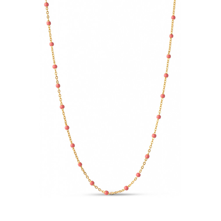 Enamel Copenhagen Lola Necklace Coral Gold-Plated