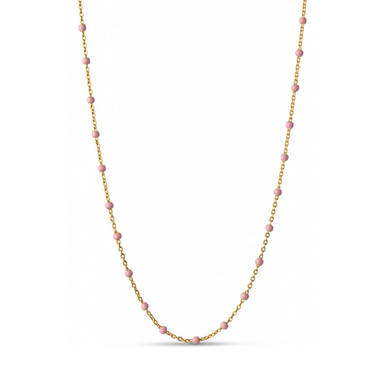 Enamel Copenhagen Lola Necklace Light Pink Gold-Plated