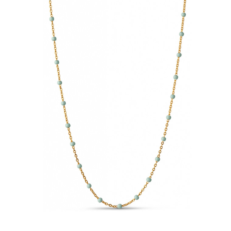 Enamel Copenhagen Lola Necklace Mint Gold-Plated