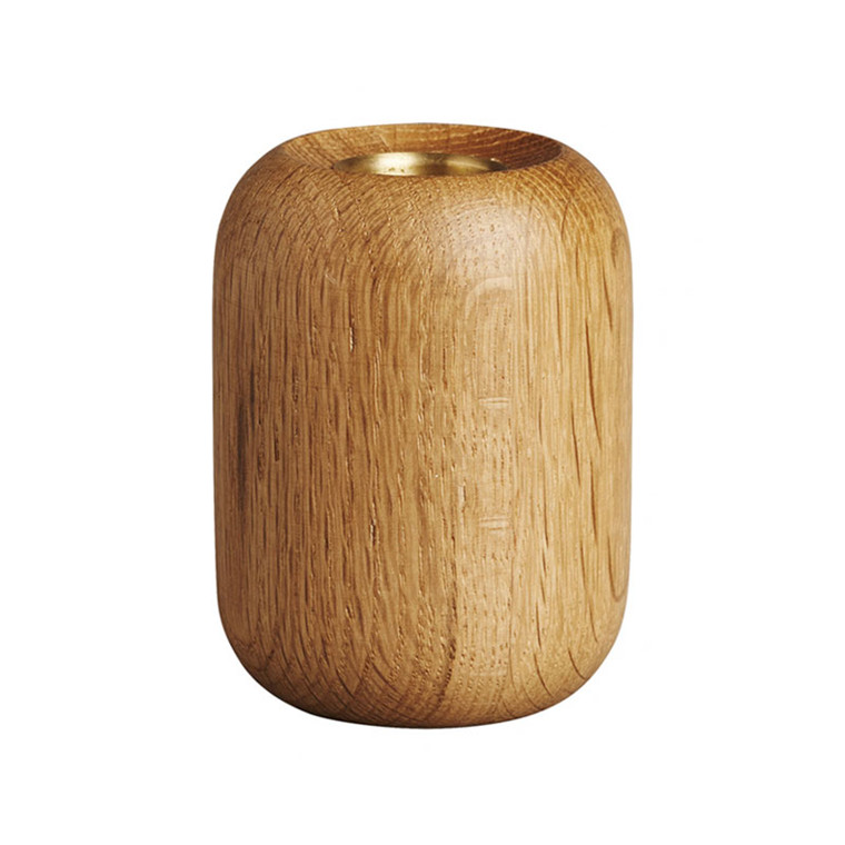 New Works Balance Candleholder Natural Oak
