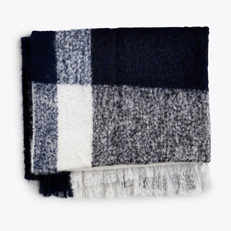 New Works Check Throw Plaid Blå