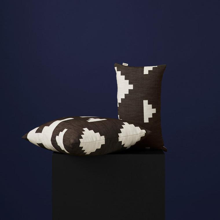 New Works Ikat Cushion Brun