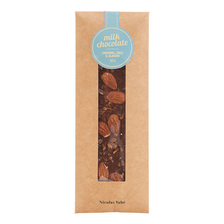 Nicolas Vahé Lys Chokolade med Karamel, Salt & Mandler