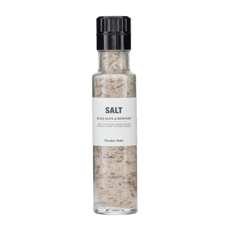 Nicolas Vahé Salt med sorte oliven & rosmarin