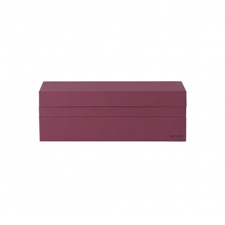 Nomess Rectangular Tray Box Dark Red