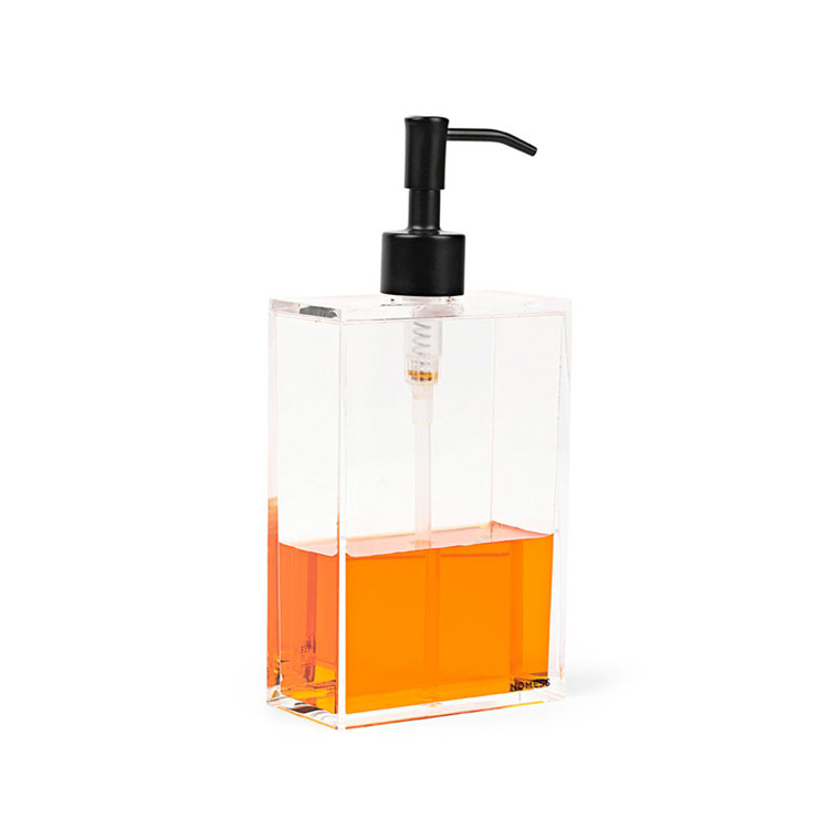 Nomess Clear Soap Dispenser Black Pump