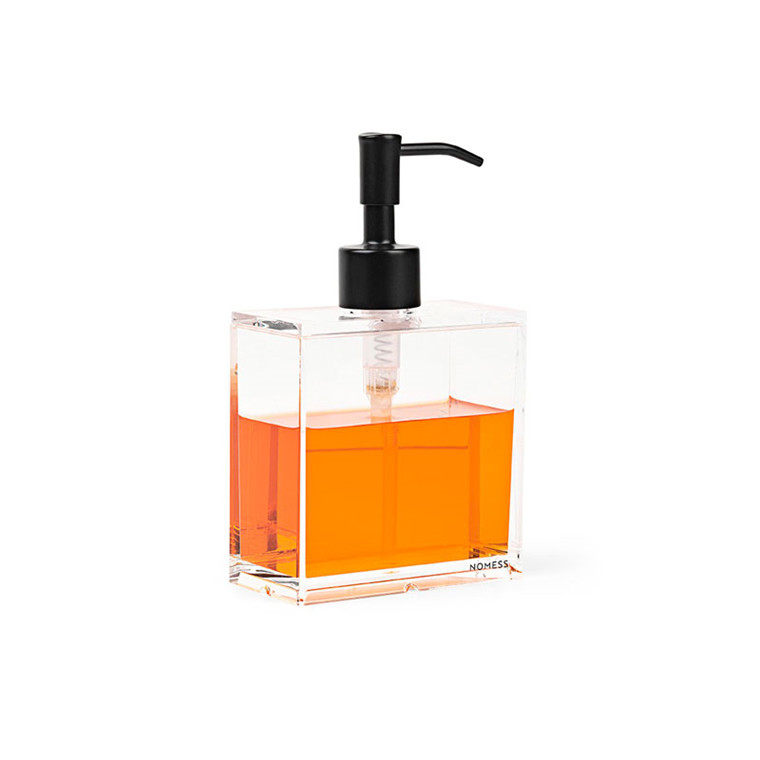 Nomess Clear Soap Dispenser Small Black Pump