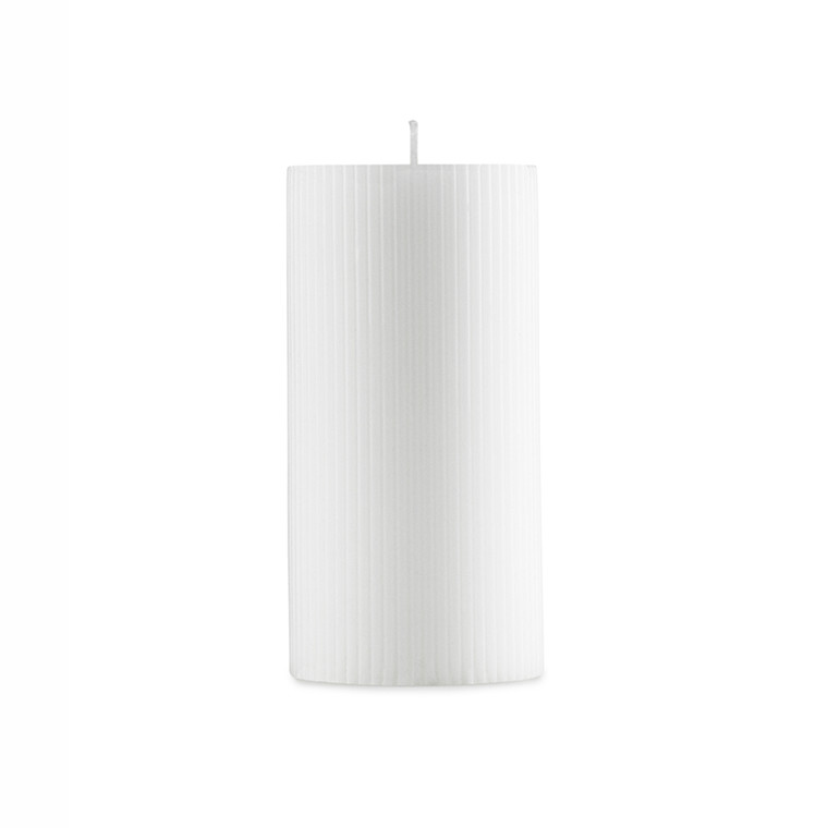 Normann Cph Grooved Block Candle White