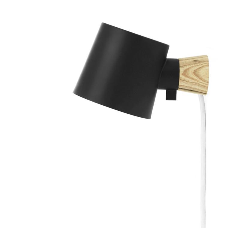 Normann Cph Rise Wall Lamp Black