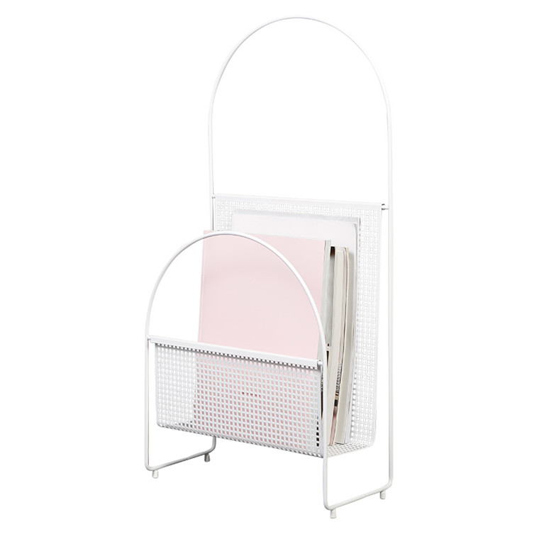 OK Design Nouvelle Magazine Holder White