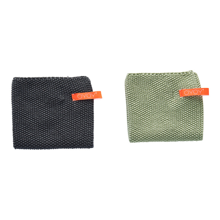 OYOY Dishcloth Pale Mint & Grey