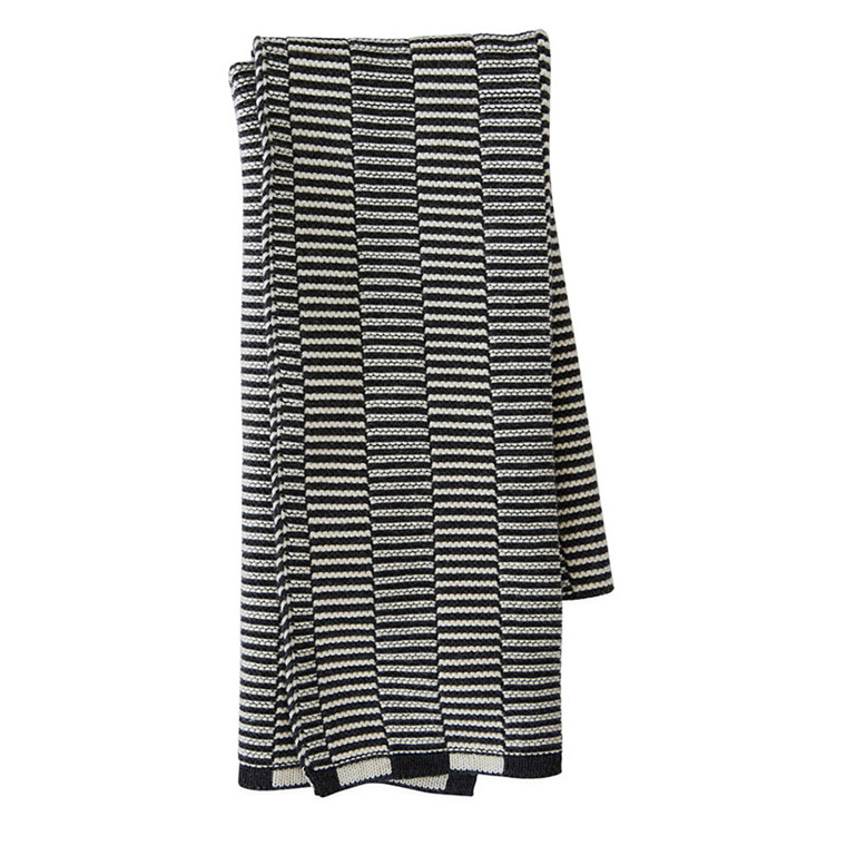 OYOY Stringa Mini Towel Offwhite/Anthracite