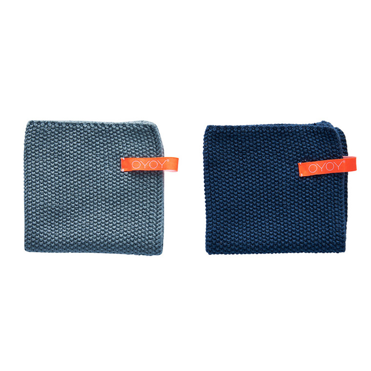 OYOY Dishcloth Dusty Aqua & Dark Denim