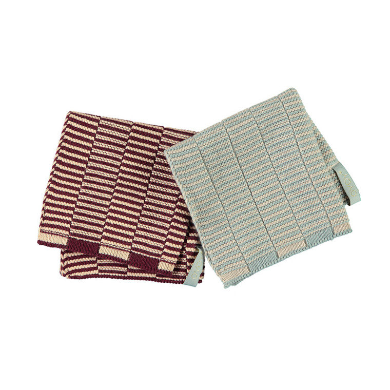 OYOY Stringa Dishcloths Aubergine/Tourmaline