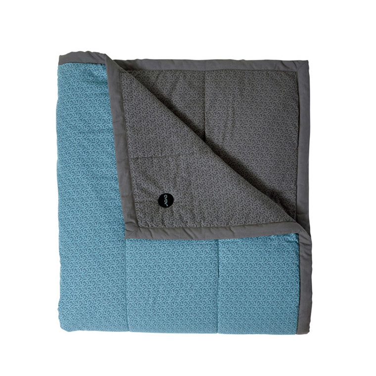 OYOY Tenji Bedcover Dusty Aqua & Grey