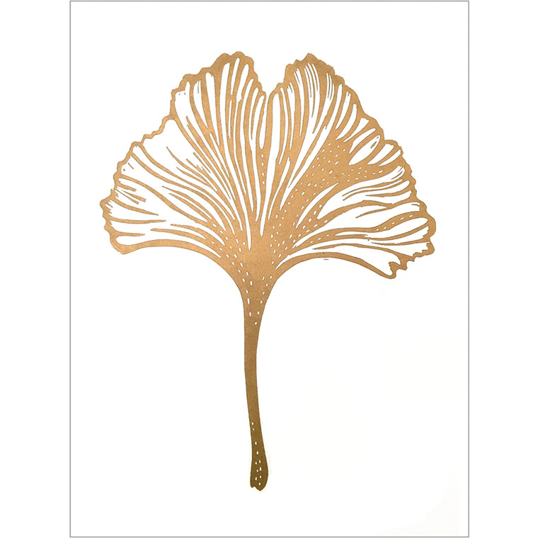 Monika Petersen Gingko Leaf White A3