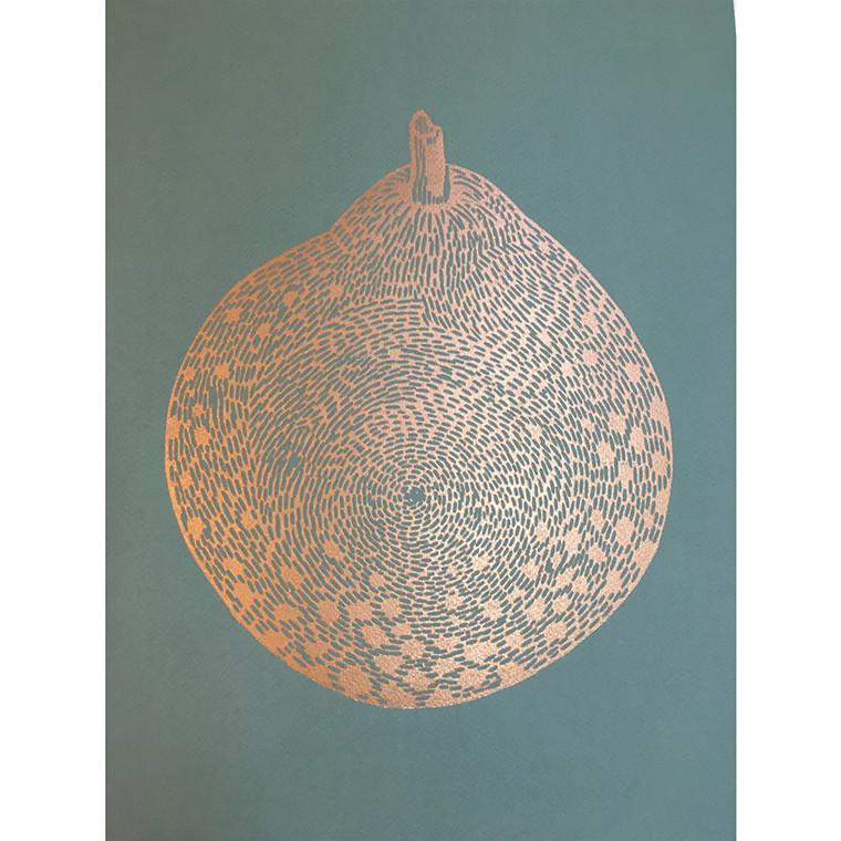 Monika Petersen Round Gold Pear Sage A3