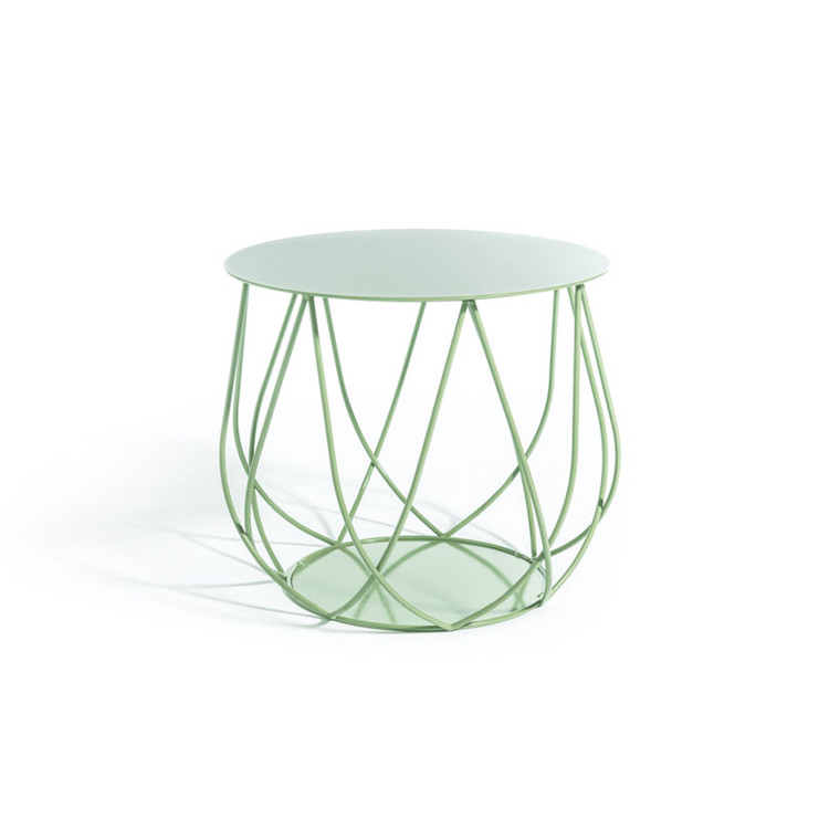 Skargaarden Resö Lounge Table Crossed Bars Light Green