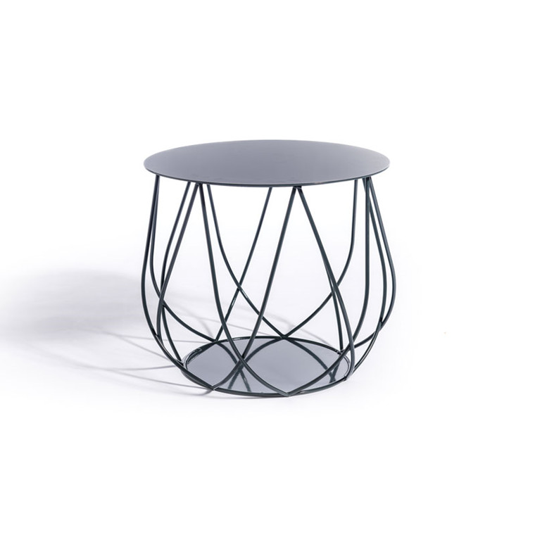 Skargaarden Resö Lounge Table Crossed Bars Charcoal Grey