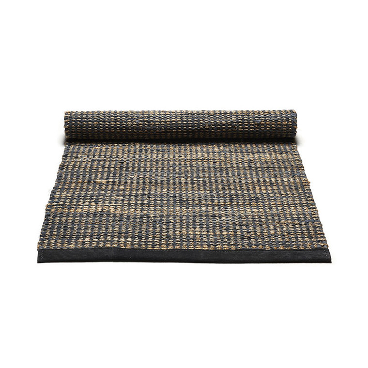 Rug Solid Graphite Jute Rug Small