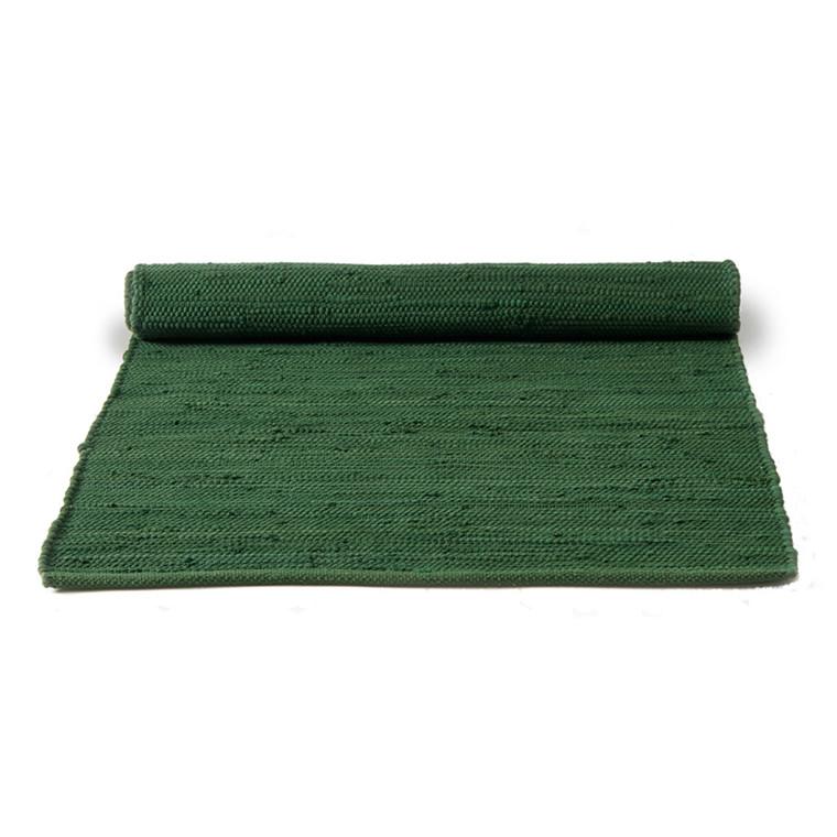 Rug Solid Grøn Bomuldstæppe