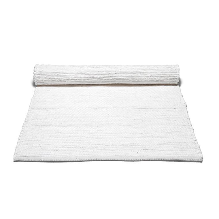 Rug Solid Hvid Bomuldstæppe