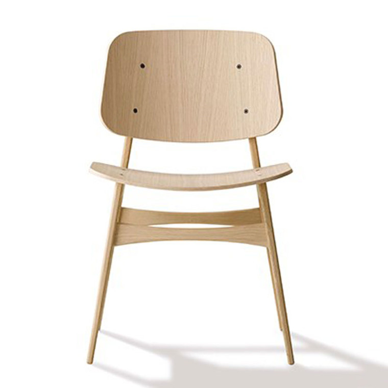 Fredericia Furniture 3050 Søborg Stol Med Træstel