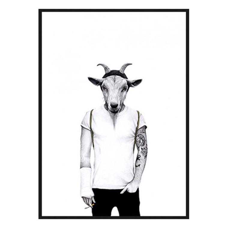 Sanna Wieslander Hipster Goat Plakat
