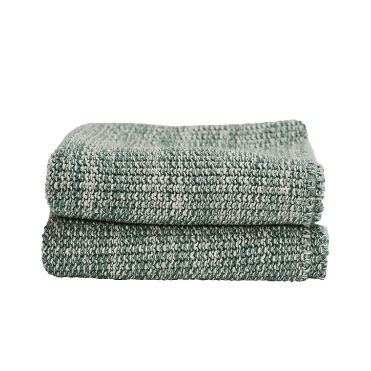 Semibasic HAND Knit Towel Green
