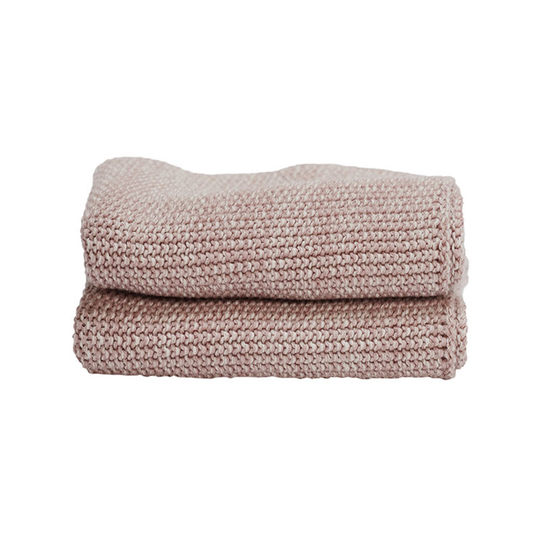 Semibasic HAND Knit Towel Rose