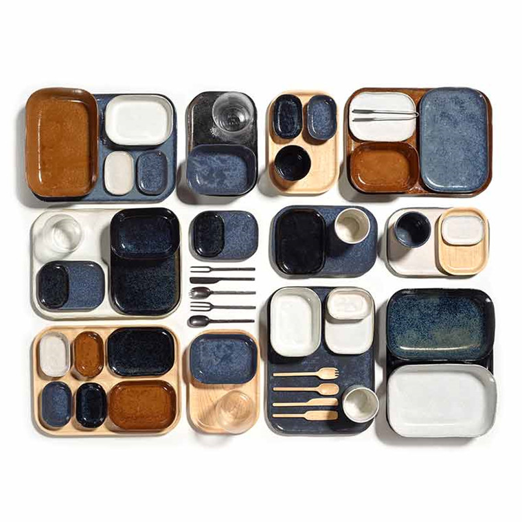 Serax Merci Rectangular Plate No. 4 S Dark Blue
