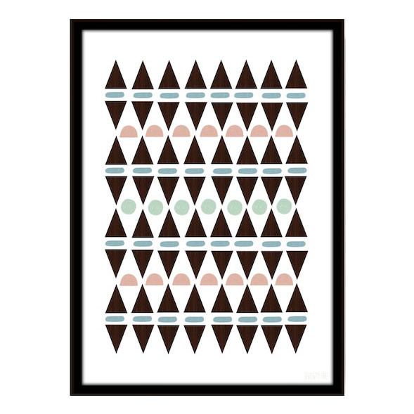 Seventy Tree Aztec Triangles Plakat