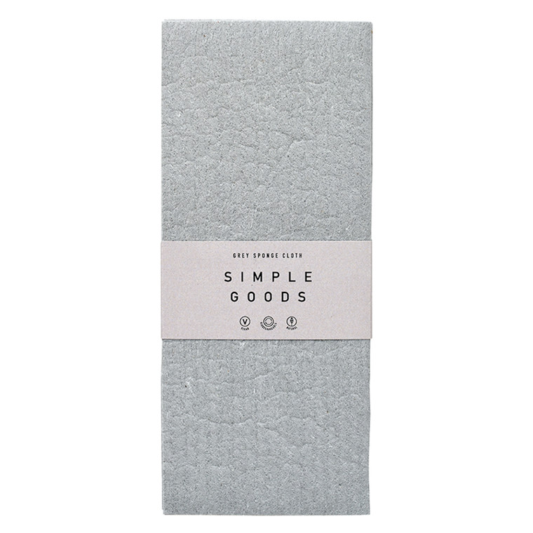 Simple Goods Sponge Cloth Grey 2-pack