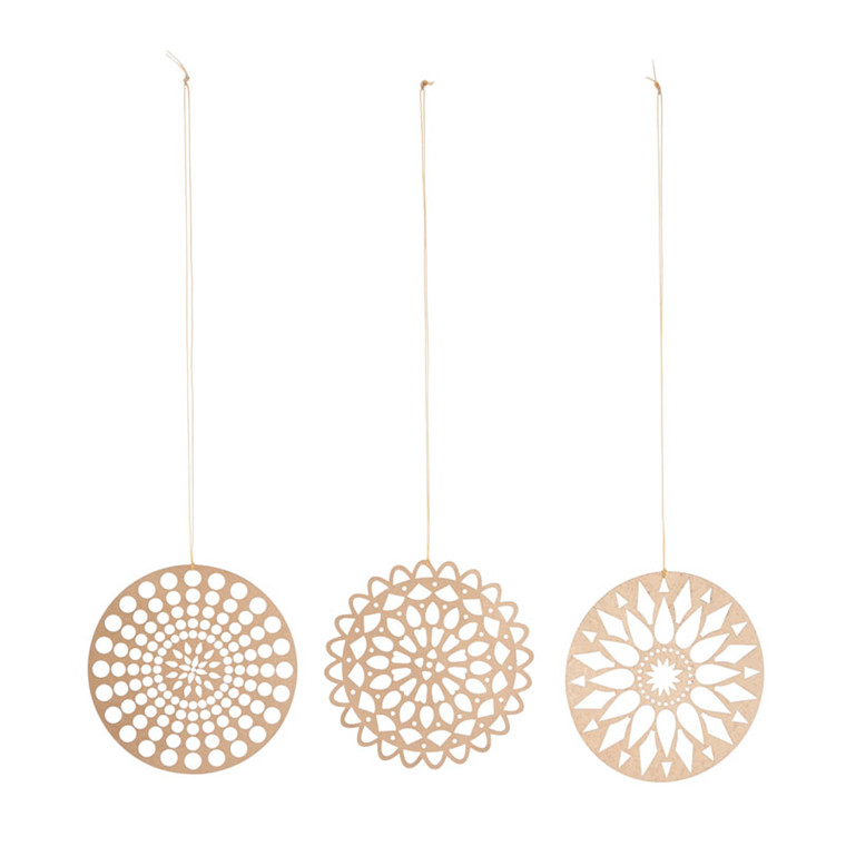 House Doctor Papercuts Ornament Guld
