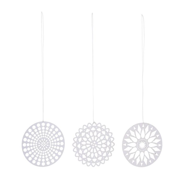 House Doctor Papercuts Ornament Hvid