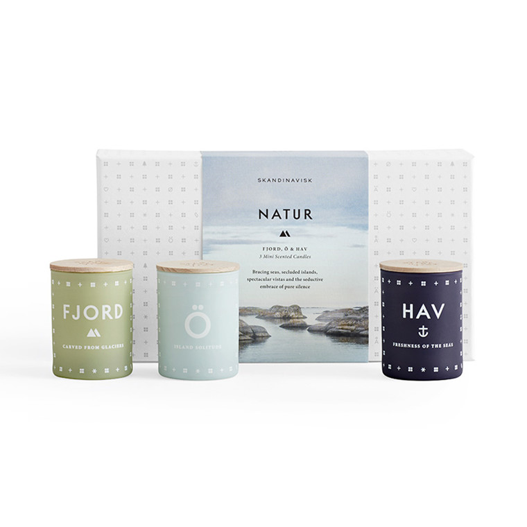 SKANDINAVISK Natur Candle Set Mini