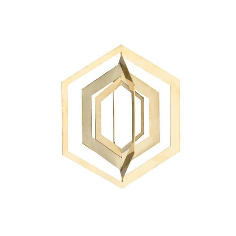 Strups Hexagon Ornament Brass