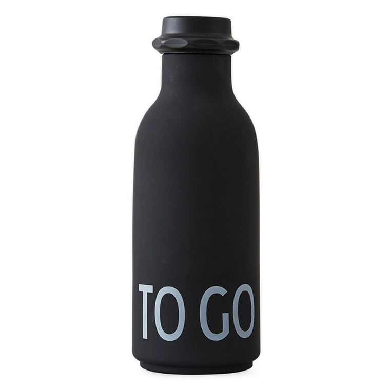 Design Letters TO GO Water Bottle Black