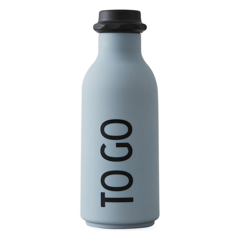 Design Letters TO GO Water Bottle Grey