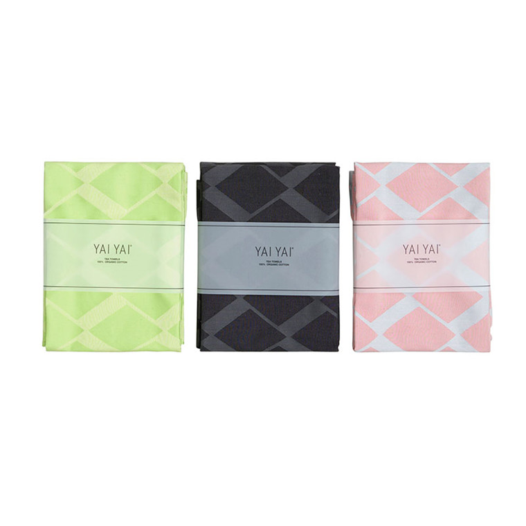 YAI YAI Diamond Jacquard Tea Towels