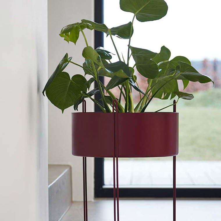WOUD Pidestall Flower Pot Red