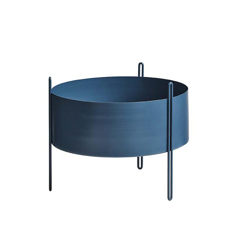 WOUD Pidestall Flower Pot Blue Medium