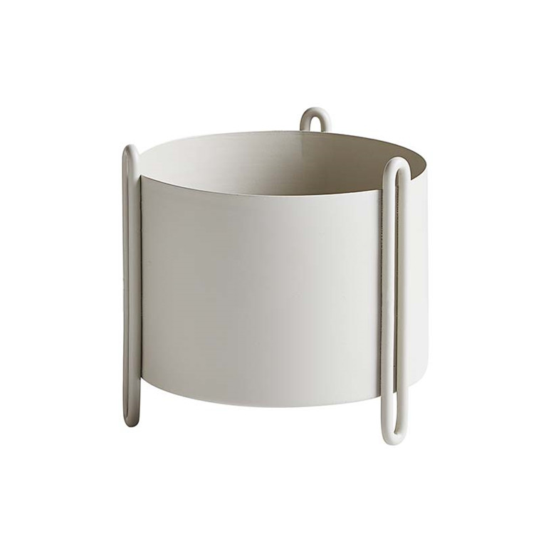 WOUD Pidestall Flower Pot Grey